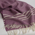 Irish Wool Banded Throw (HR)