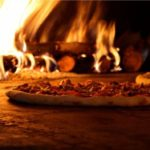 Pizza from the stone fire oven at Bassetts Restaurant, Thomastown Kilkenny
