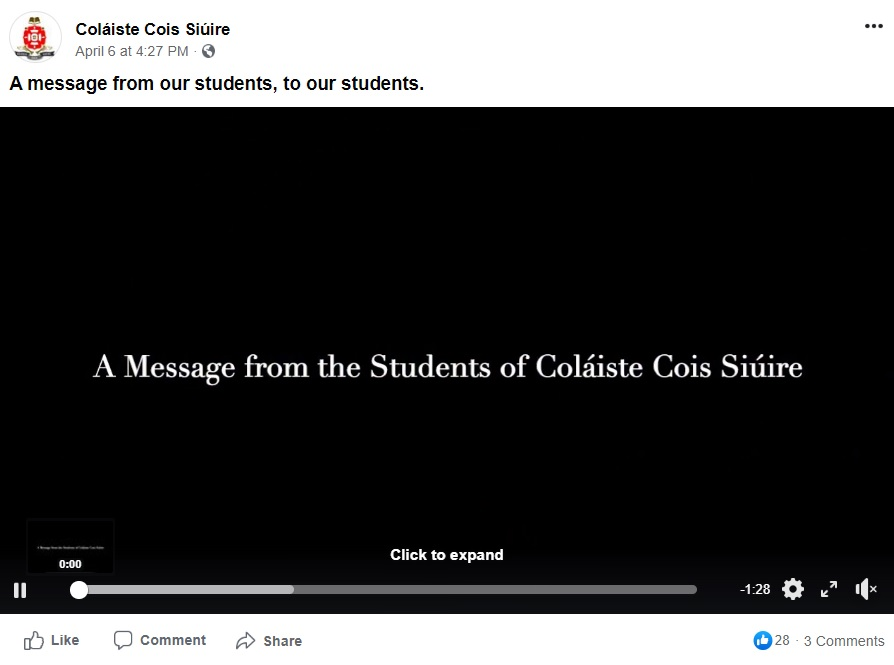 A message from our students, to our students.