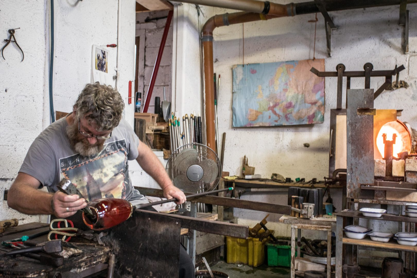 Learn The Ancient Craft Of Glass Blowing At Jerpoint Glass